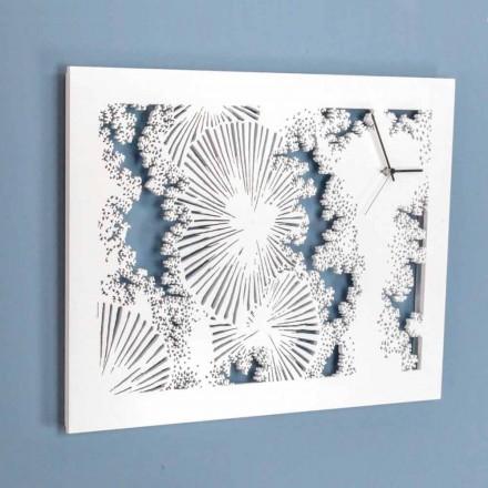 Designvægur i hvidt træ eller rektangulær due - Artificio