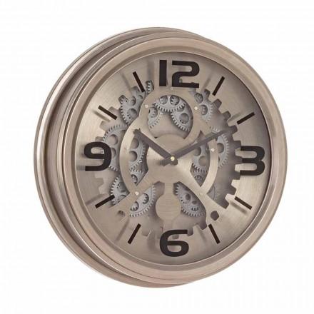 Klassisk stil ur i stål og Mdf Homemotion - rå