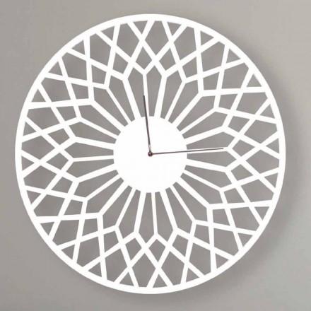 Vægur i stort og moderne design i rundfarvet træ - Dandalo
