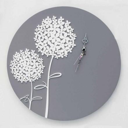 Moderne design rund dekoreret grå trævægur - hovedbrusebad