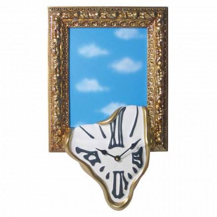 Vægur med fotoramme i harpiks Made in Italy - Bigno