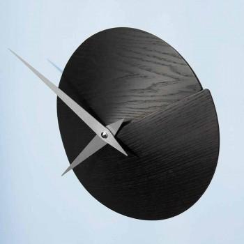 Designer Vægur Ø 19,5 cmmin Naturligt træ lavet i Italien - krater