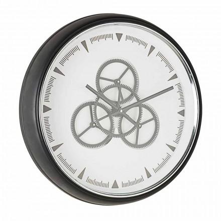 Vægur Diameter 50 cm i stål- og glashjemmebevægelse - Severio
