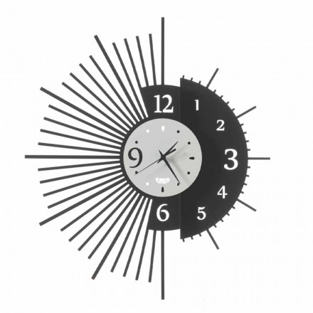Iron Wall Clock Elegant Design Made in Italy - Aneto