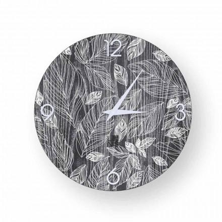 Trævæg ur med moderne design Veroli, lavet i Italien