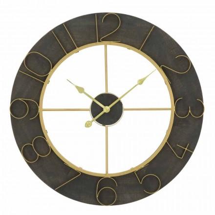 Rundt vægur ur Diameter 70 cm Moderne design i jern og MDF - Tonia