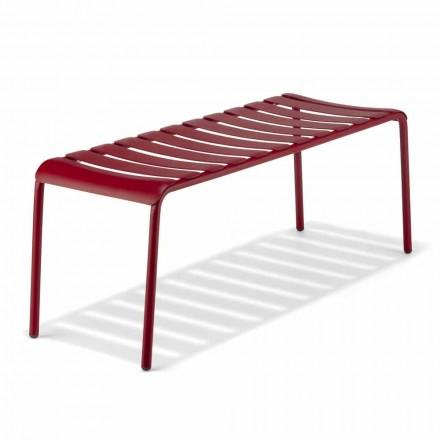 Lav bænk i udendørs malet aluminium, fremstillet i Italien - Sybella