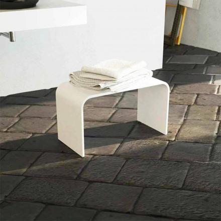 Moderne design lang badebænk produceret 100% i Recanati i Italien