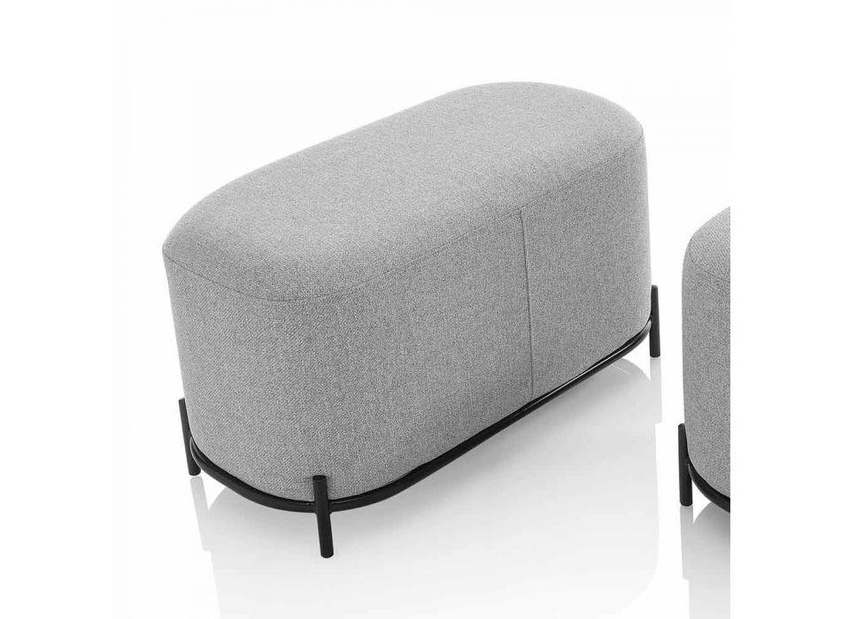 Bænk til stue eller soveværelse i Mint Green Design Fabric - Ambrogia