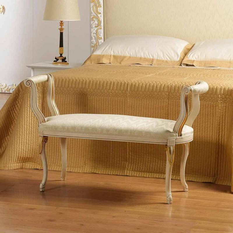 Bench Mat klassisk design elfenben med guld dekorationer Tyler