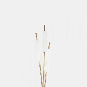 3 lys gulvlampe i messing og glas Moderne elegant design - Typha af Il Fanale