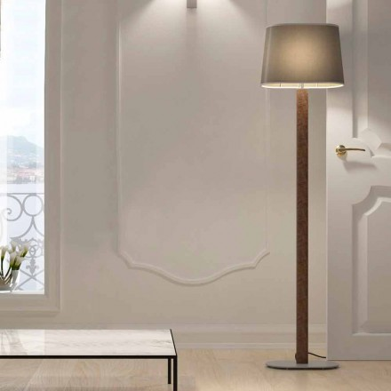 Moderne design gulvlampe i metal med stofskærm Lavet i Italien - Jump