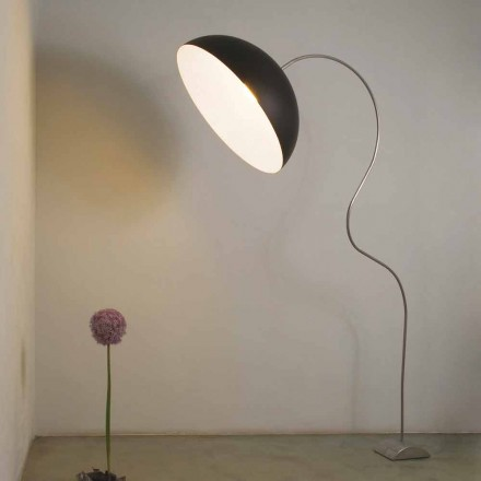 Moderne H210cm gulvlampe In-es.artdesign Halvmånefarvet nebulit