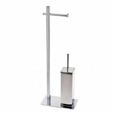 Moderne design jernstativ til toiletbørste og -rulle fremstillet i Italien - Cali