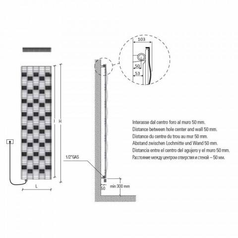 5 bar design stål elektrisk strålingsplade op til 1000 watt - flod