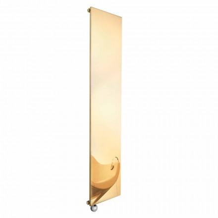 Lodret elektrisk strålingsplade i guld, moderne design op til 1000 W - is