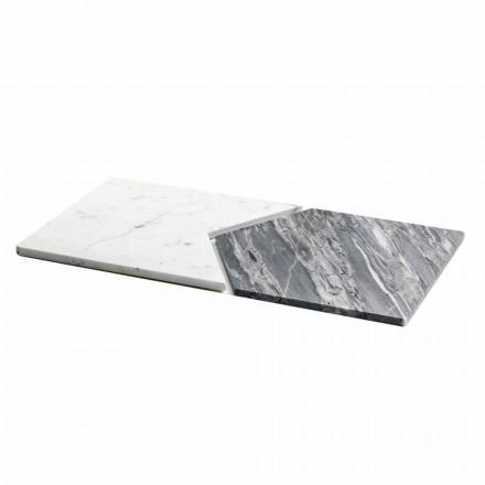 Serveringsplader i Carrara og Bardiglio marmor fremstillet i Italien, 2 stykker - ærter