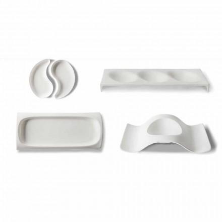 Serviceplader til gourmetdesign i Bone China 9 Stykker - Flavia