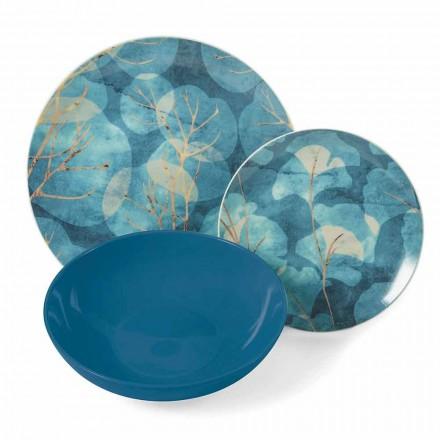 Moderne blå eller lyserød stentøj og porcelænsplader 18 bordemner - efterår