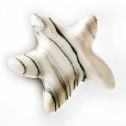 Moderne marmor underkop i form af en søstjer lavet i Italien - Ticcio
