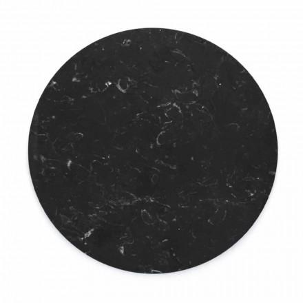 Rund osteplade i hvid eller sort marmor fremstillet i Italien - Kirby