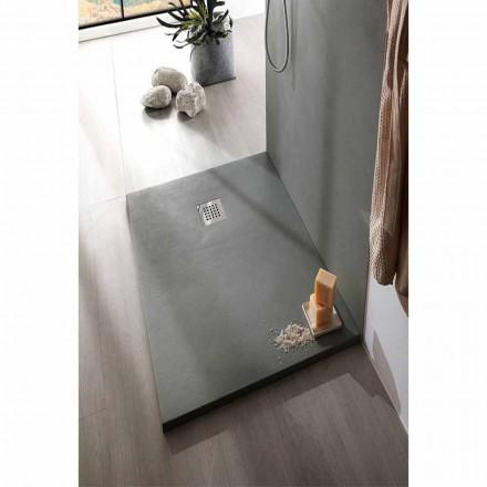 Brusebad 140x70 cm i hvid eller grå - Cupio betoneffektharpiks