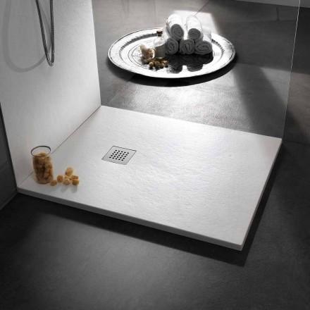 Moderne brusebad i harpikssteneffekt 100x70 - Domio