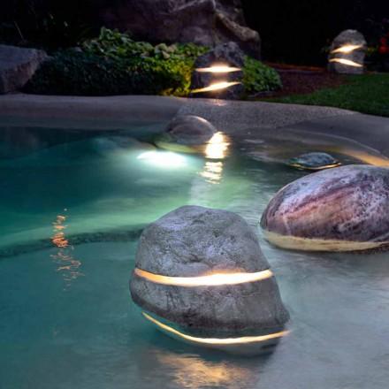 Stone dekorativt lys ved nedsænkning Lyskilde To gange med 2 spalter