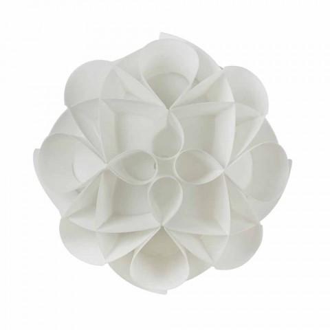 3 loftslamper foretaget i Italien hvid perle, diameter 51 cm, Lena