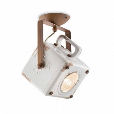 loft loftslampe firkantet spotlight drejelig vintage Kaylee