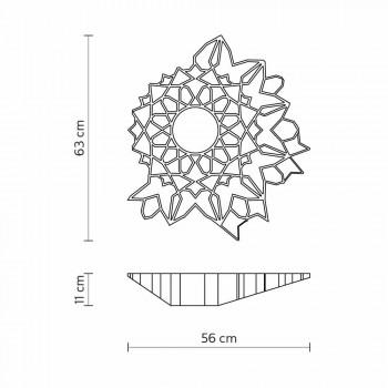 Loftlysapplikation i Technopolymer White eller Gold Design 2 størrelser - Cathedral