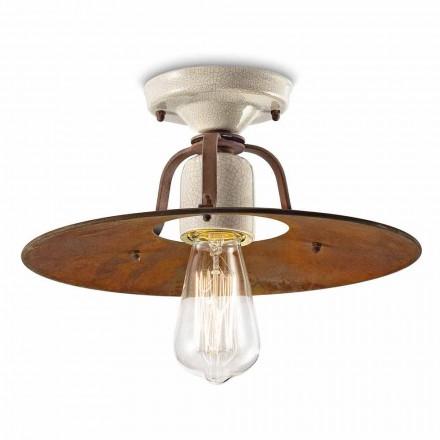 Loft lys lavet af keramik og metal vintage Elaine Ferroluce
