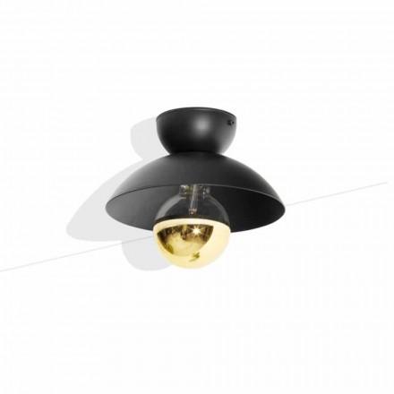 Loftlampe i metaldesign med guldfinishdetalje fremstillet i Italien - Valta