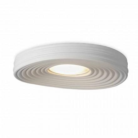 Loftlampe i moderne design i mat hvid gips - lakrids
