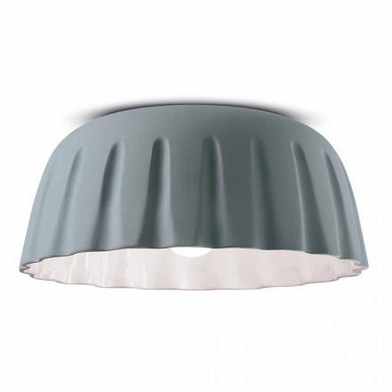 Vintage Design keramisk loftslampe fremstillet i Italien - Ferroluce Madame Grès