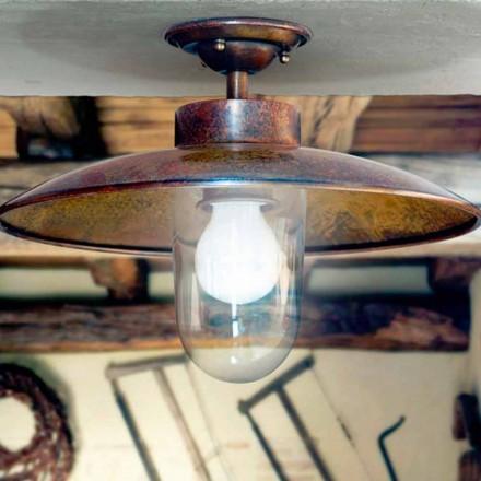 Brass loftslampe af Aldo Bernardi Nabucco kobber og glas