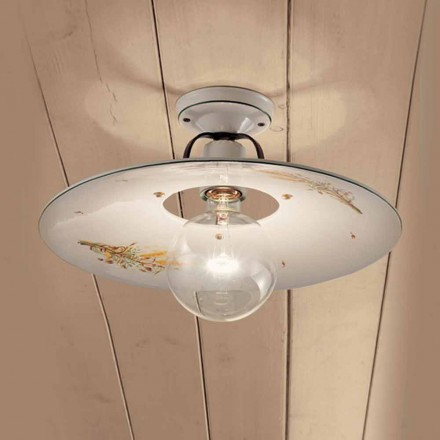 Round loftslampe dekoreret keramiske loft Ferroluce