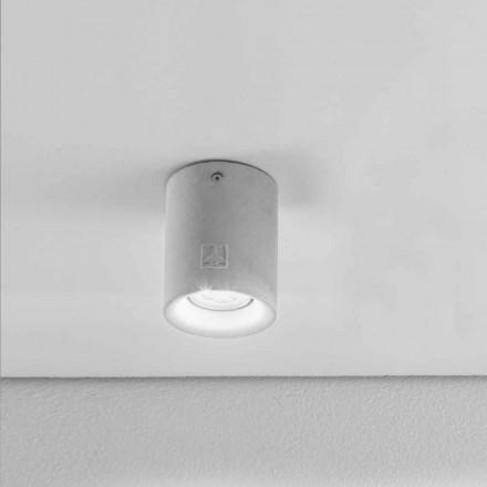 Round loftslampe ekstern gips / cement Nadir 10 Aldo Bernardi