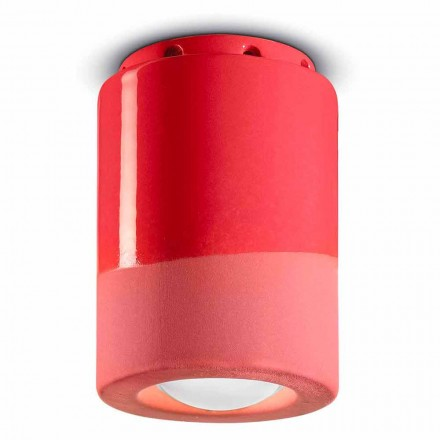 Vintage loftlampe i keramik fremstillet i Italien - Ferroluce Pi