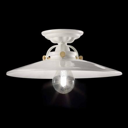 Loft lampe i blank keramiske vintage og gyldne skruer Elsa design