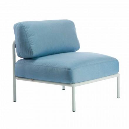 Central modulær lænestol til udendørs i metal og stof fremstillet i Italien - Cola