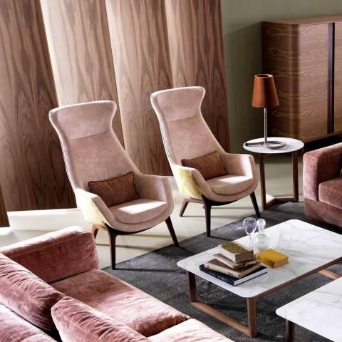 Bergére lænestol i Grilli Wilde design stof lavet i Italien