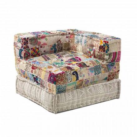 Chaise Longue lænestol i etnisk design i bomuld til patchwork, til stue - fiber