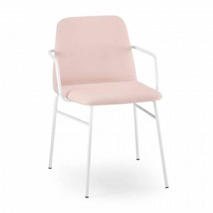 Luksusfarvet stoflænestol med metalfod lavet i Italien - Molde