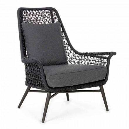 Moderne design udendørs lænestol i aluminium og homemotion stof - Nigerio