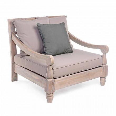 Homemotion - Nusadua rustik stil teaktræ udendørs lænestol