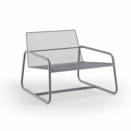 Udendørs metal lænestol med luksuspude fremstillet i Italien - Karol