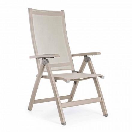 Liggende udendørs lænestol med aluminiumsstruktur, Homemotion - Ursula