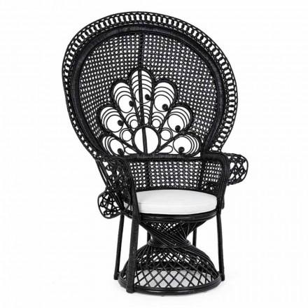 Luksus Design Havestol til udendørs i sort Rattan - Serafino