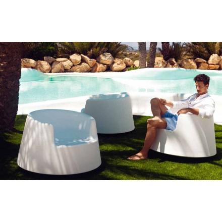 Moderne haven lænestol, i polyethylen, Roulette af Vondom
